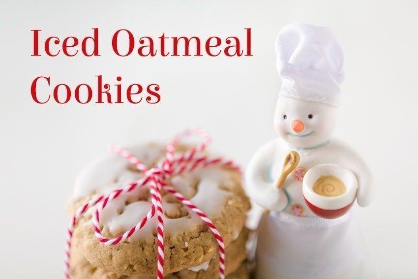 Iced Oatmeal Cookies Recipe on quillandglass.com