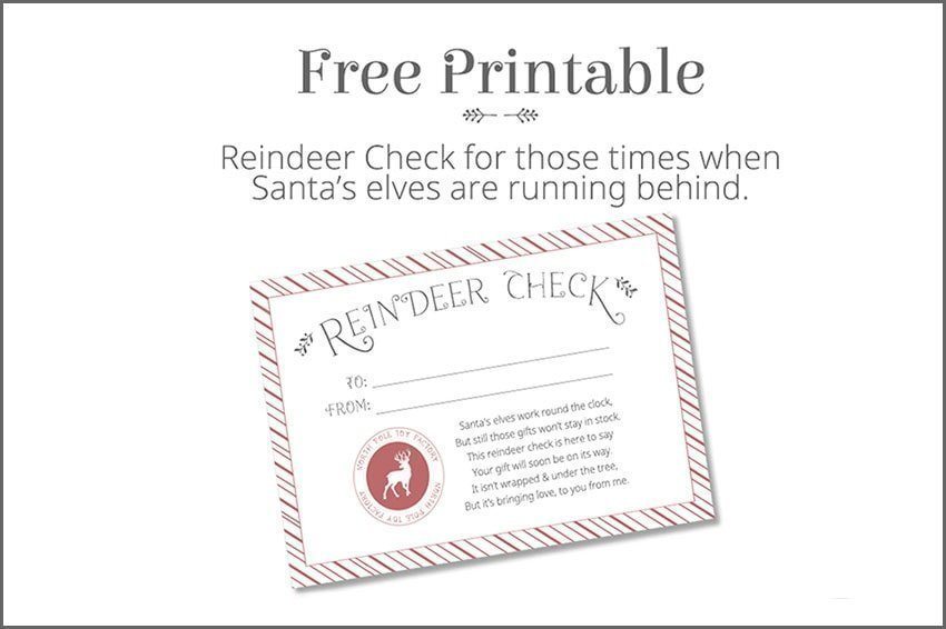 Reindeer Check - Free Christmas Printable at quillandglass.com